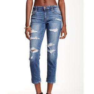 Joes jeans slim crop boyfriend